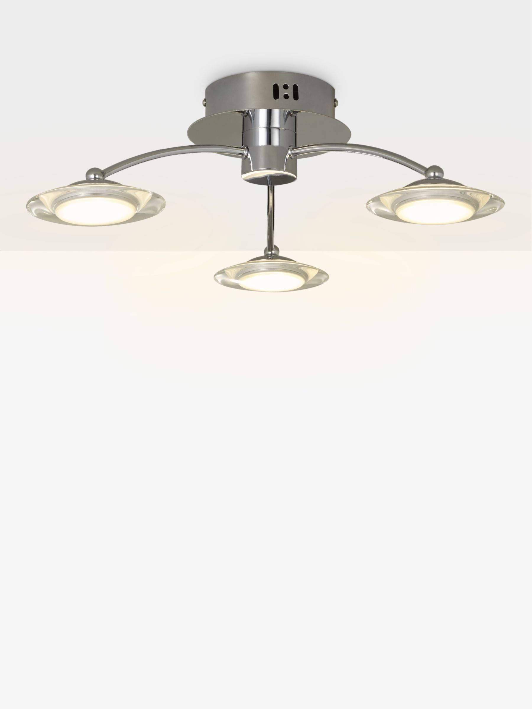 Buy John Lewis Jasper 3 Arm LED Ceiling Light, Chrome John Lewis