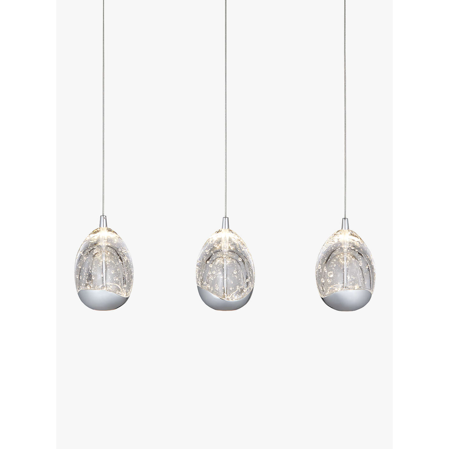 John lewis droplet 3 pendant led diner ceiling light chrome at john buyjohn lewis droplet led 3 pendant ceiling light chrome online at johnlewis mozeypictures Image collections