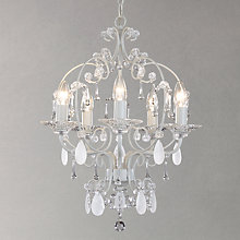 Buy John Lewis Amelie 5 Light Crystal Ceiling Pendant, Grey Online at johnlewis.com
