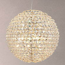 Buy John Lewis Exquisite Crystal Globe Ceiling Light, Brushed Brass, Large Online at johnlewis.com