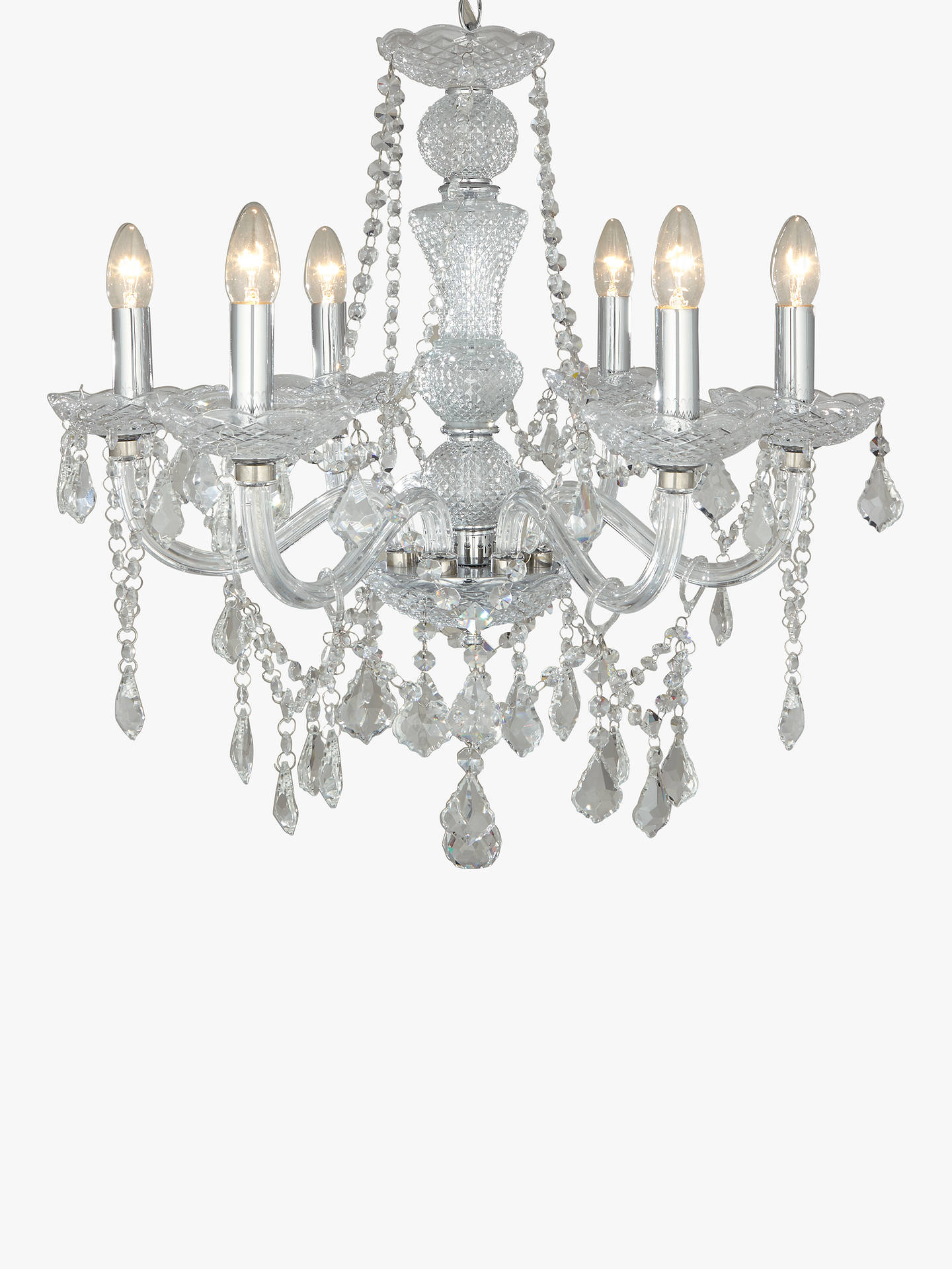 John Lewis Partners Bethany Chandelier 6 Arm At Dimmer Wiring Diagram Buyjohn Online Johnlewis