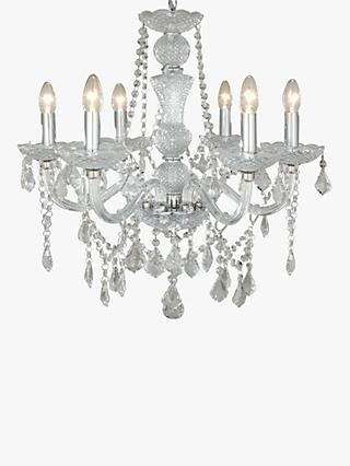 Chandelier lighting ceiling lighting john lewis partners john lewis partners bethany chandelier 6 arm aloadofball Image collections