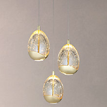 Buy John Lewis Droplet LED 3 Pendant Cluster Ceiling Light, Gold Online at johnlewis.com