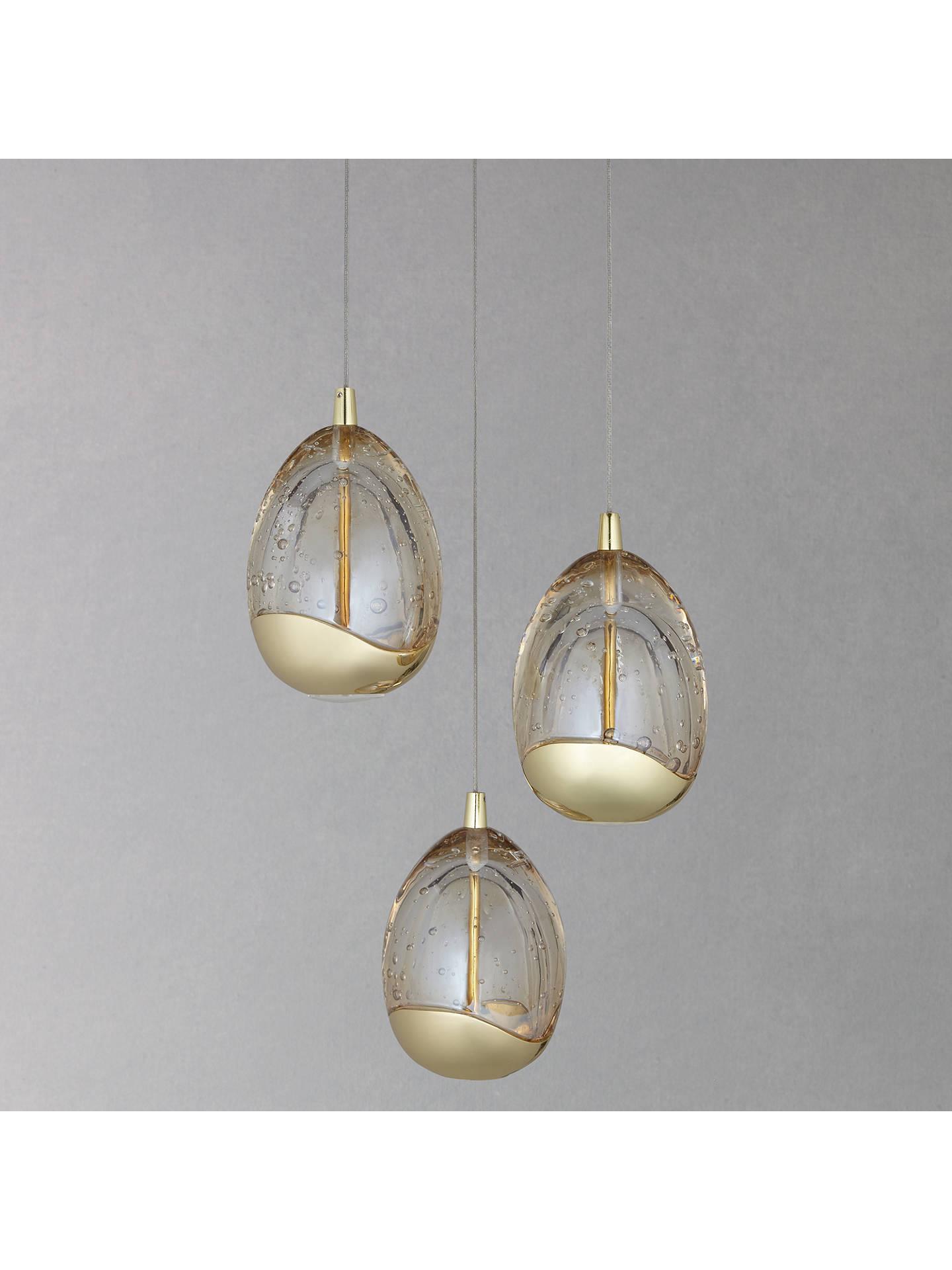 John Lewis Partners Droplet Led 3 Pendant Cer Ceiling Light Gold