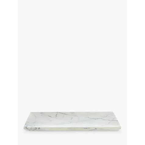 Buy John Lewis White Marble Bathroom Accessories Tray