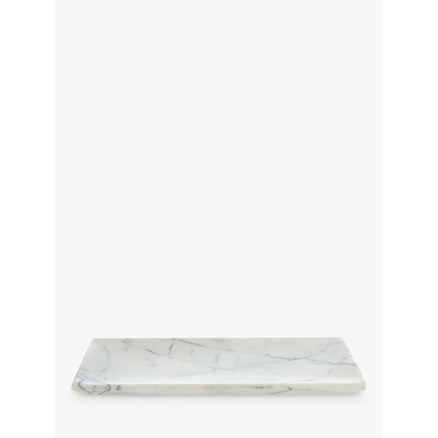 John Lewis White Marble Bathroom Accessories Tray by John Lewis