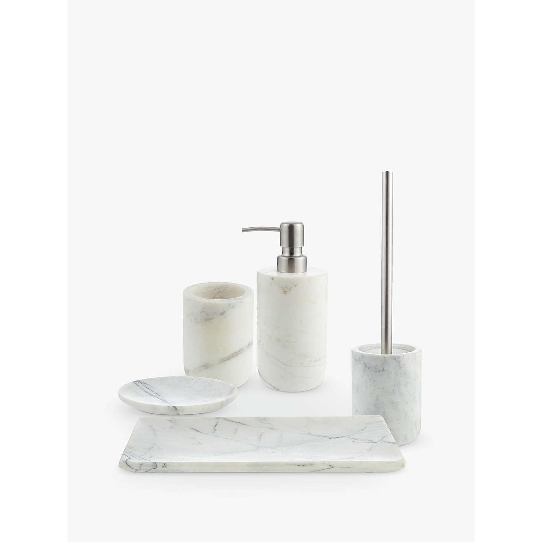 Genial ... BuyJohn Lewis White Marble Bathroom Tumbler Online At Johnlewis.com ...