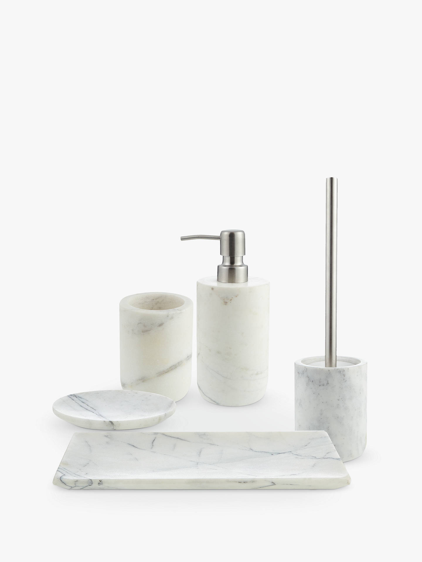 BuyJohn Lewis & Partners White Marble Bathroom Tumbler Online at johnlewis.com