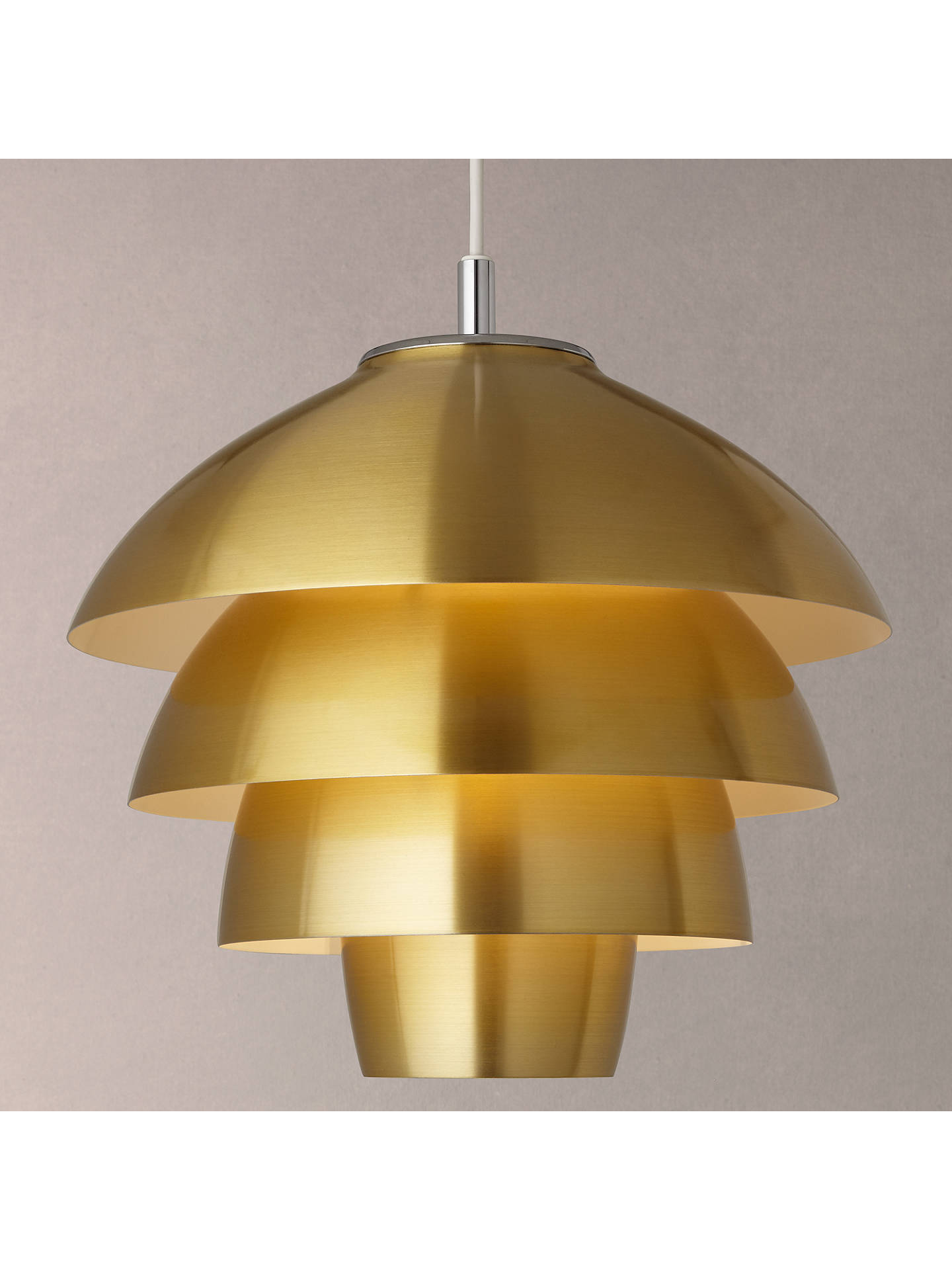 Buy John Lewis & Partners Oslo Layered Ceiling Pendant, Brass Online at johnlewis.com