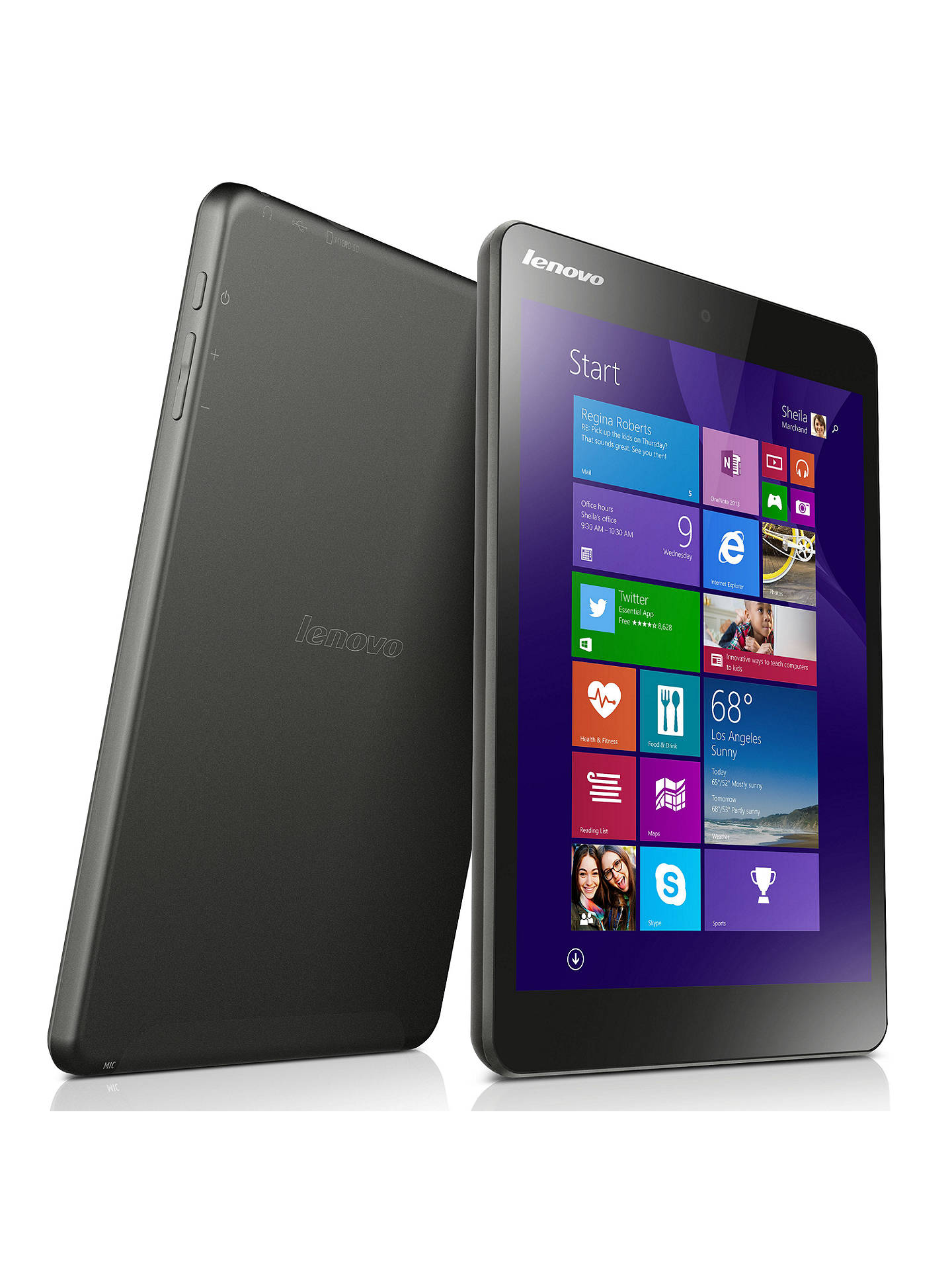 Lenovo Miix 3 8 Tablet, Intel Atom, Windows 8 1 & Microsoft