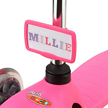 Buy Micro Scooter Nameplate, Pink Online at johnlewis.com