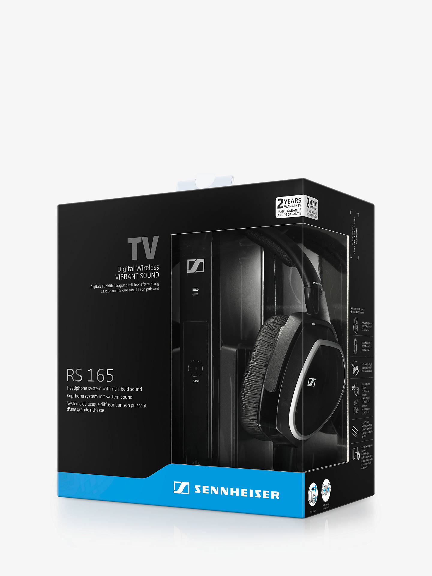 Sennheiser Rs165 Wireless Over Ear Digital Headphones At John Lewis