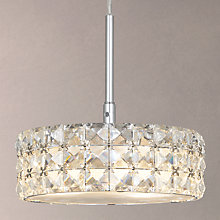 Buy John Lewis Aurora Double Insulated Crystal Pendant Light, Small Online at johnlewis.com