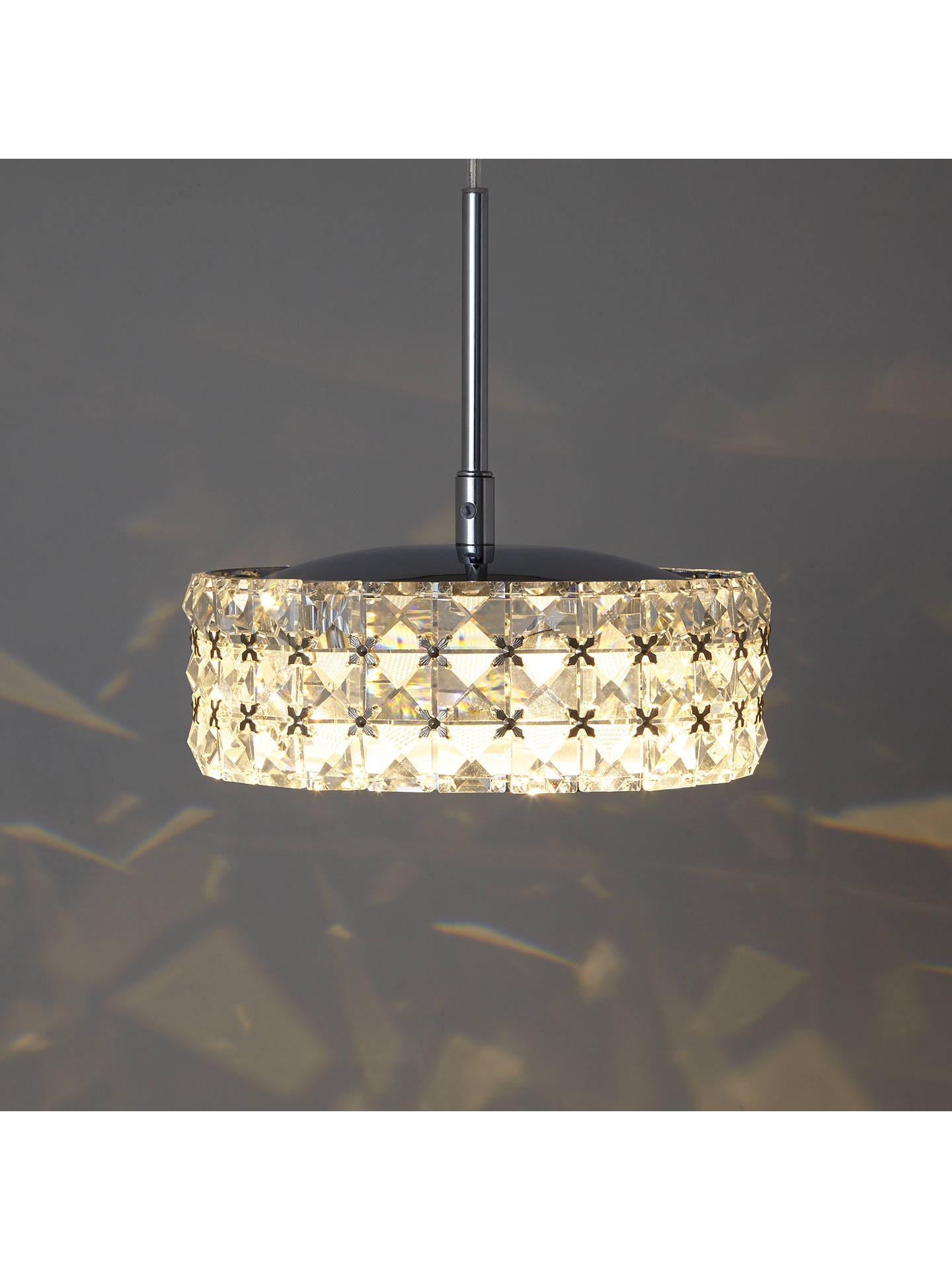 Small Fancy Crystal Chandelier with Silver Rectangular