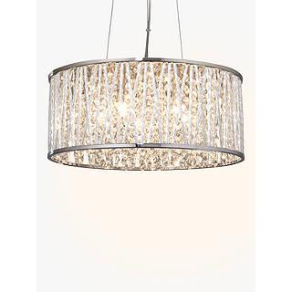 Chandelier ceiling lighting john lewis john lewis emilia drum crystal pendant light mozeypictures Image collections