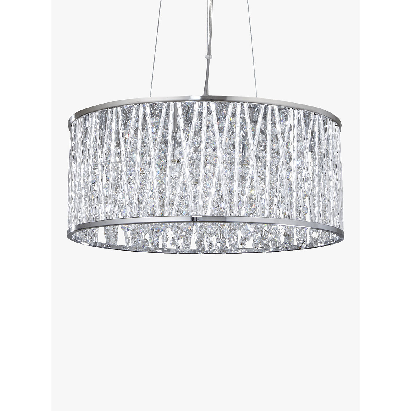 Buy john lewis emilia drum crystal pendant light john lewis buy john lewis emilia drum crystal pendant light online at johnlewis aloadofball Choice Image