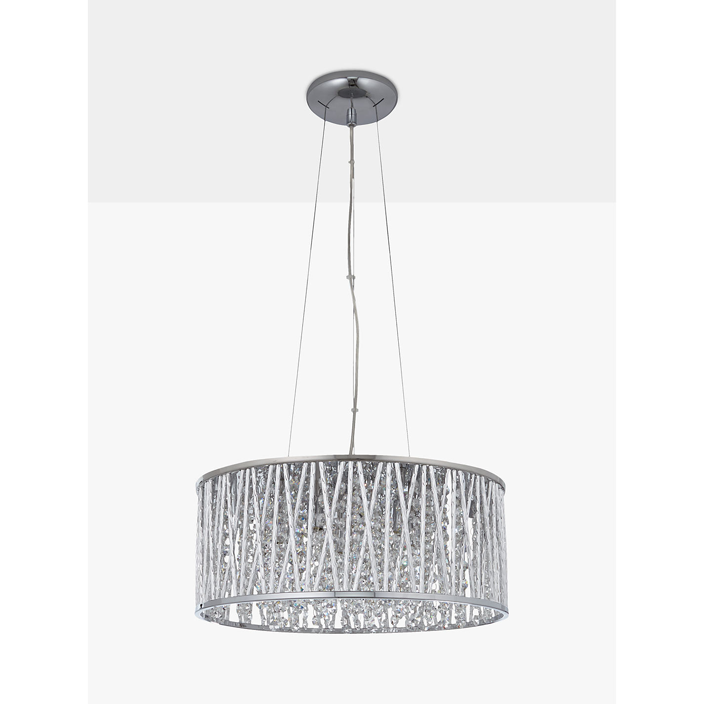 Buy john lewis emilia drum crystal pendant light john lewis buy john lewis emilia drum crystal pendant light online at johnlewis mozeypictures Gallery
