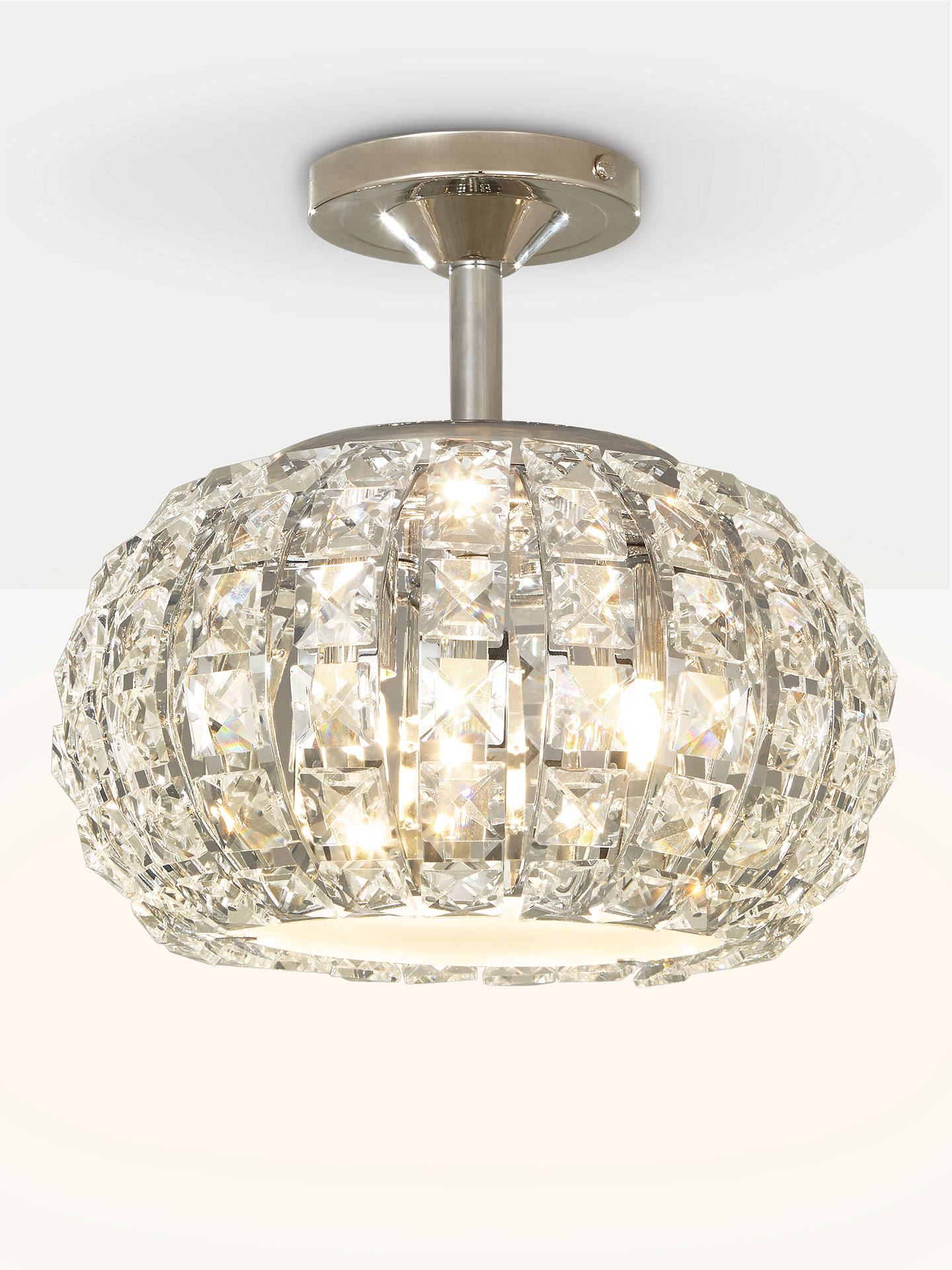 Buy John Lewis & Partners Venus Ceiling Light, Crystal and Chrome Online at johnlewis.com