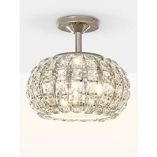Chandelier crystal ceiling lighting john lewis john lewis venus ceiling light crystal and chrome aloadofball Gallery