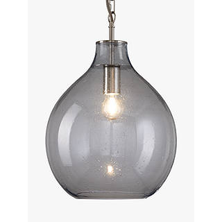 Pendant lights lighting john lewis croft collection selsey glass ceiling pendant light blue aloadofball Image collections