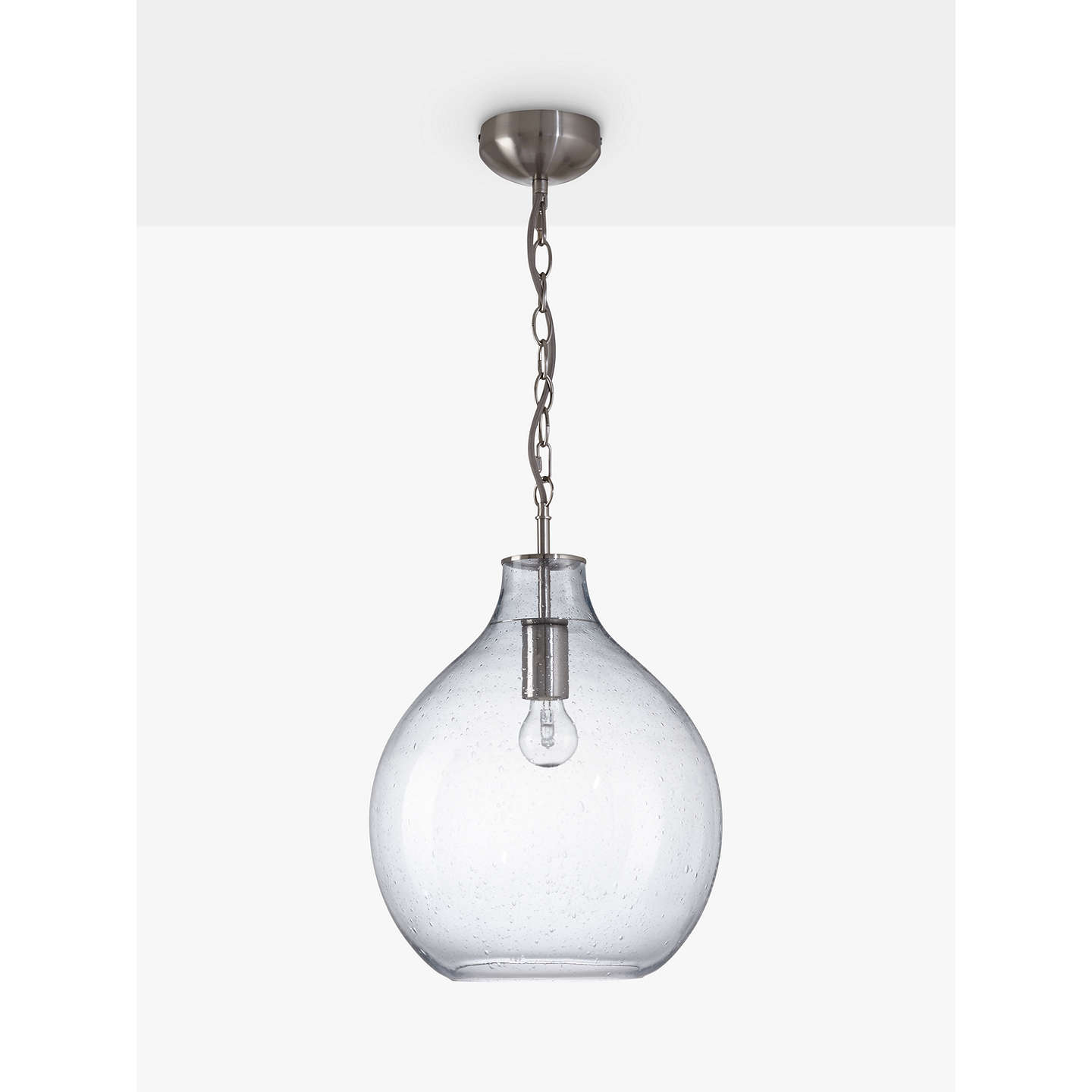pendant shade ceiling inside chrome delivery fast light clear glass orbital with crackle free