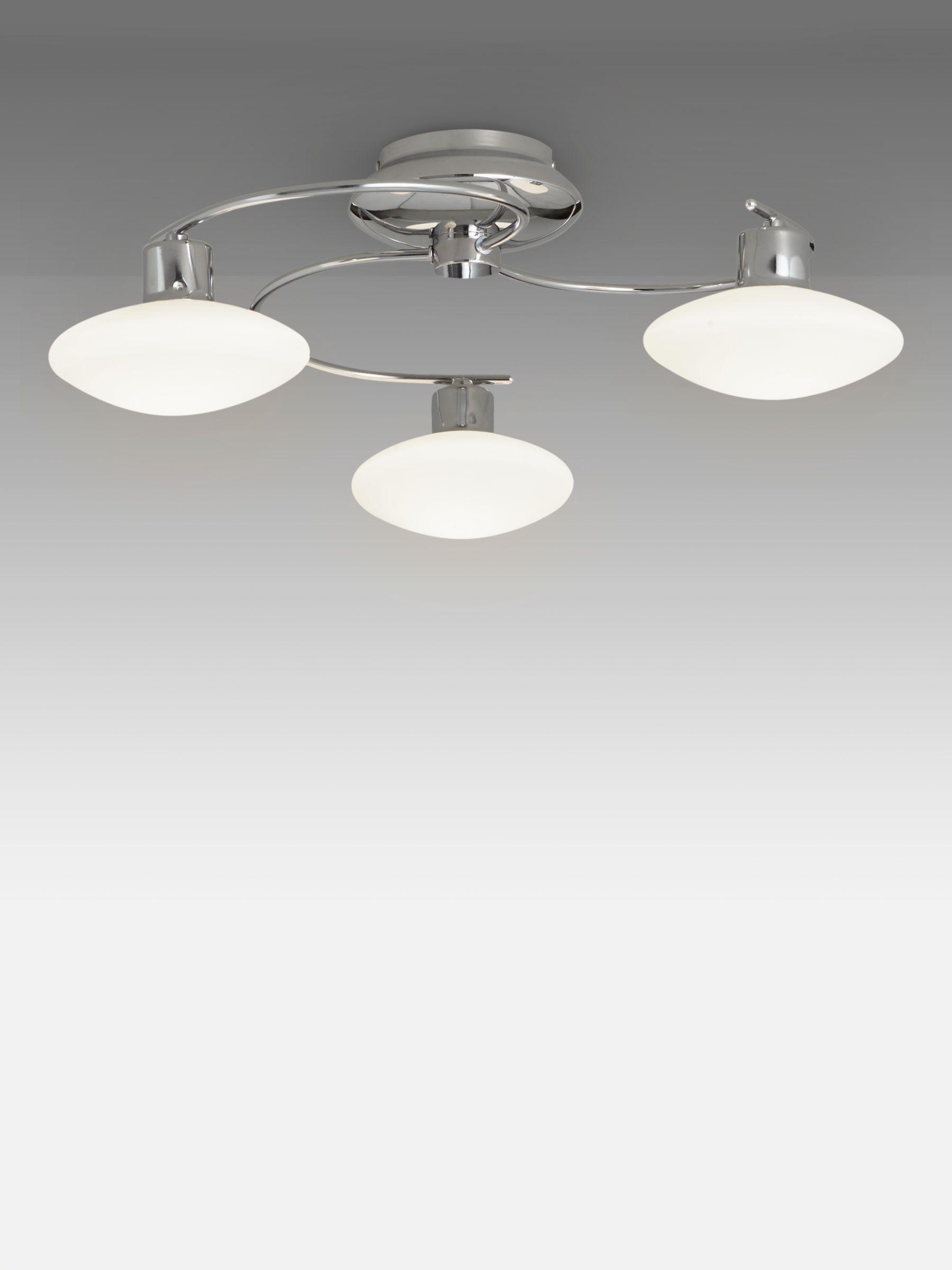 John Lewis & Partners Tameo LED Semi Flush 14 Arm Ceiling Light, Chrome