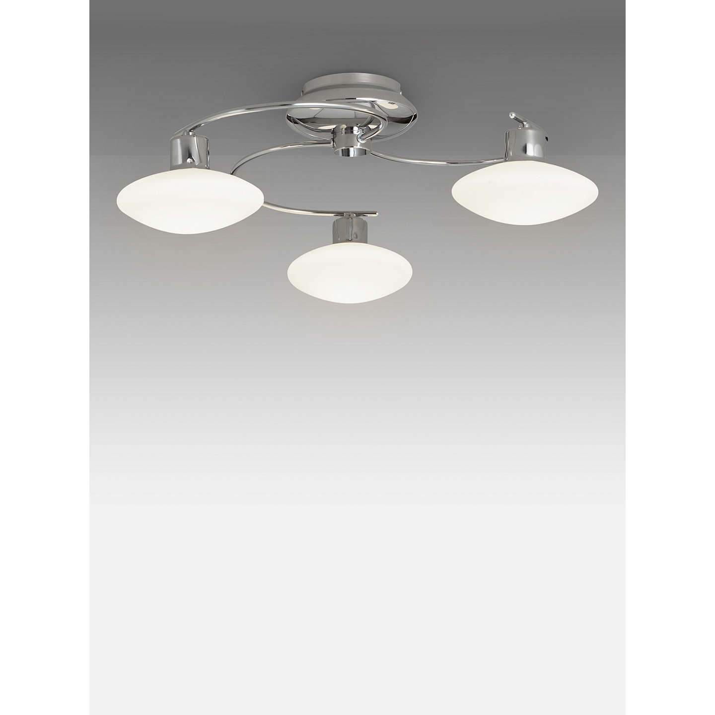 John Lewis Tameo Semi Flush, 3 Arm LED Ceiling Light