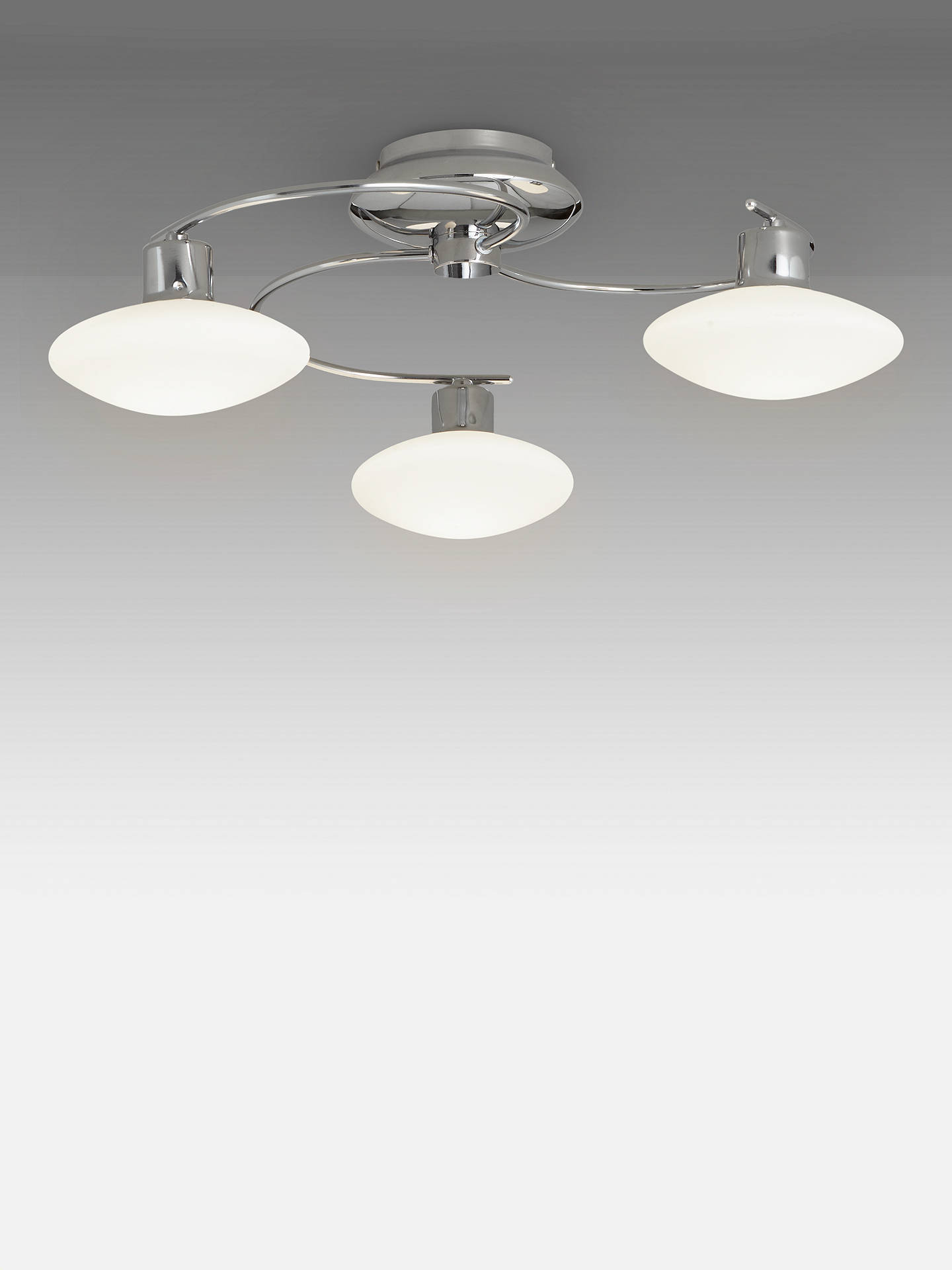Buyjohn lewis partners tameo semi flush 3 arm led ceiling light chrome online
