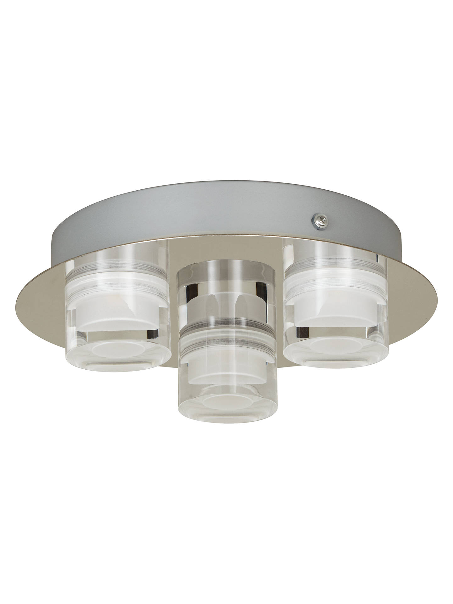 BuyJohn Lewis & Partners Presta Round Ceiling Light, Chrome Online at johnlewis.com