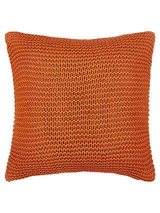 Buy John Lewis Chunky Knit Cushion, Clementine Online at johnlewis.com