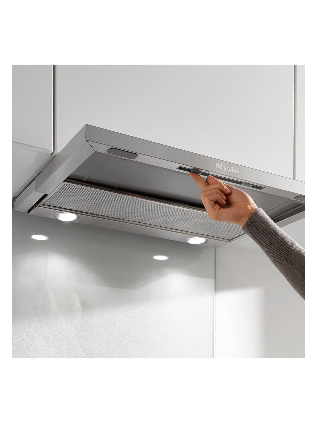 Buy Miele DA3366 Cooker Hood, Stainless Steel Online at johnlewis.com