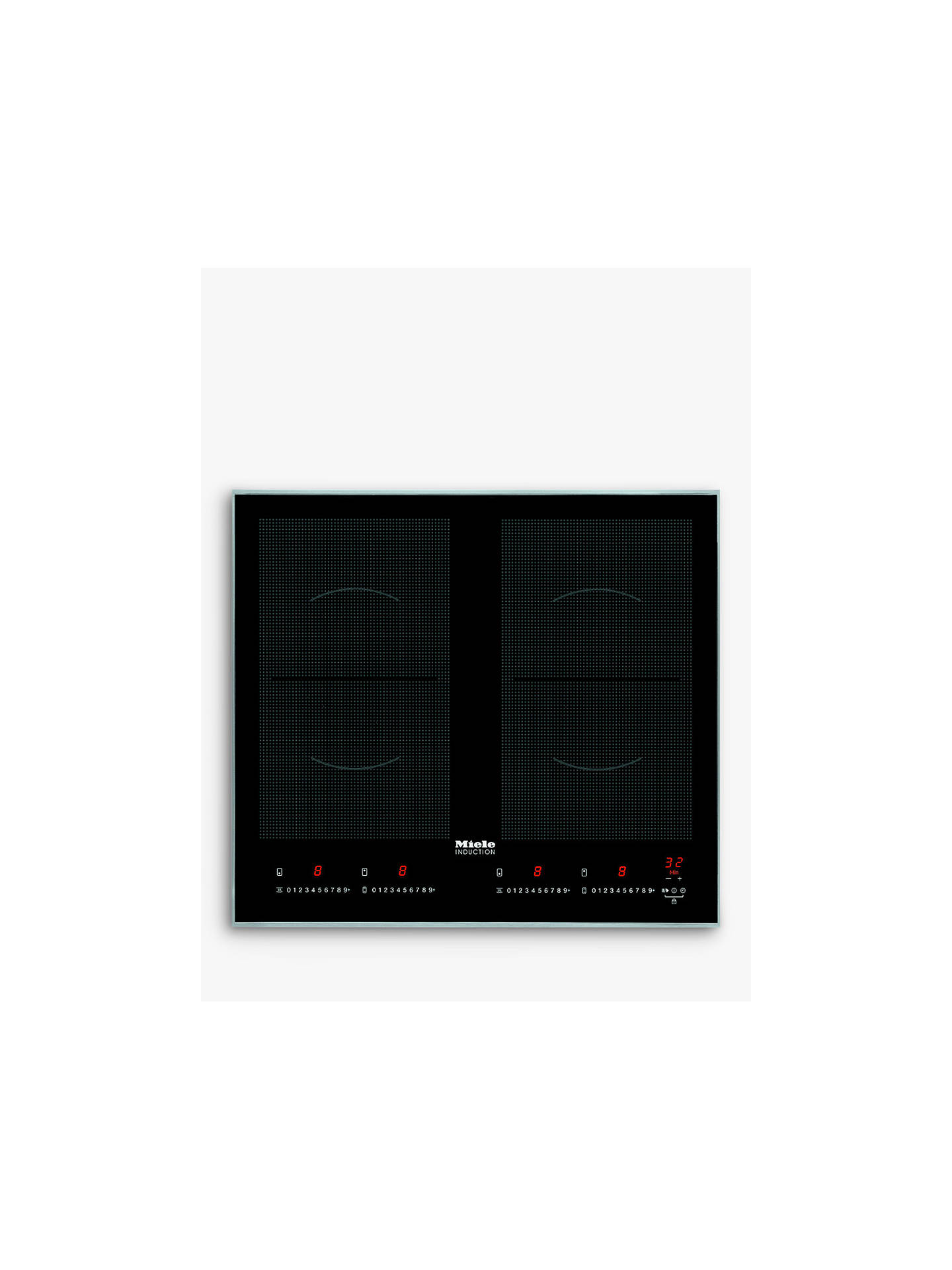 BuyMiele KM6328-1 Induction Hob, Black Online at johnlewis.com