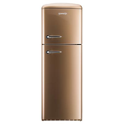 Image of Gorenje RF60309OCO Freestanding Fridge Freezer, A++ Energy Rating, Right-Hand Hinge, 60cm Wide, Royal Coffee