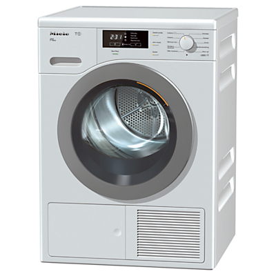 Image of Miele TKB 640 WP Freestanding Heat Pump Condenser Tumble Dryer, 8kg Load, A++ Energy Rating, White