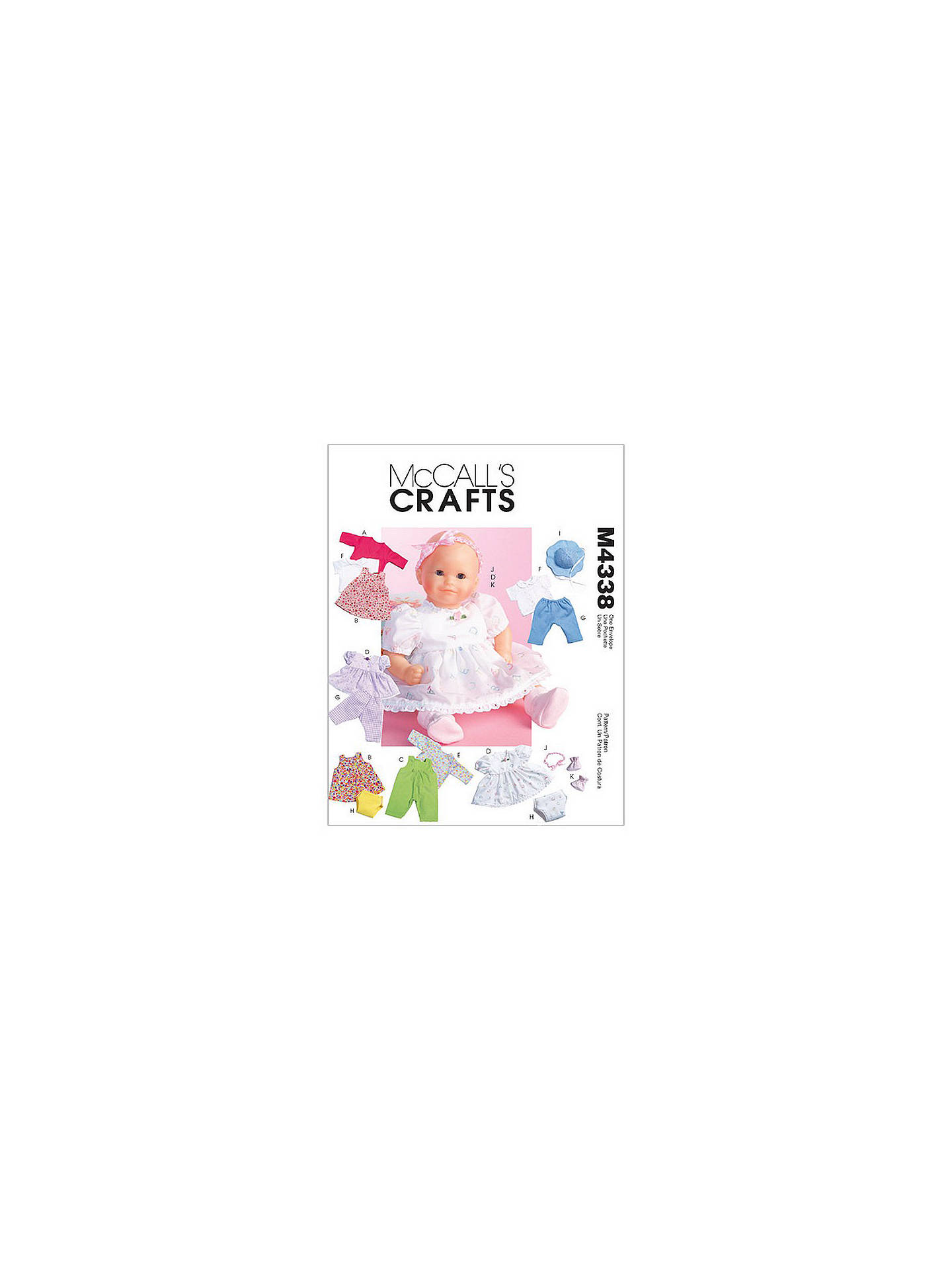 McCall\'s Baby Doll Clothes Sewing Pattern, 4338, One Size at John ...
