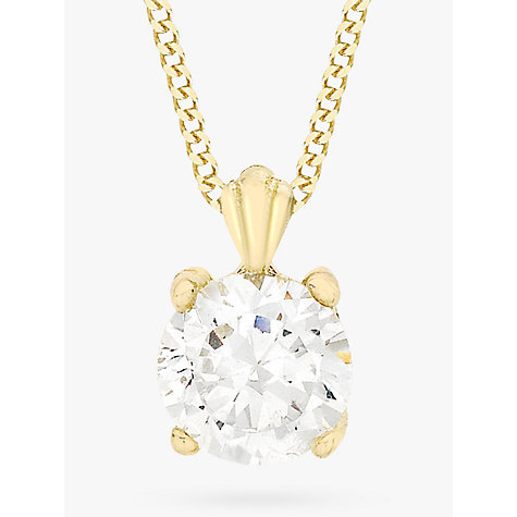 Buy ibb 9ct yellow gold cubic zirconia pendant necklace yellow buy ibb 9ct yellow gold cubic zirconia pendant necklace yellow gold online at johnlewis aloadofball Image collections