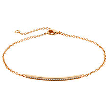 Buy Melissa Odabash Crystal Bar Bracelet Online at johnlewis.com