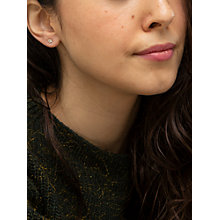 Buy IBB 9ct Yellow Gold Cubic Zirconia Stud Earrings, Yellow Gold Online at johnlewis.com