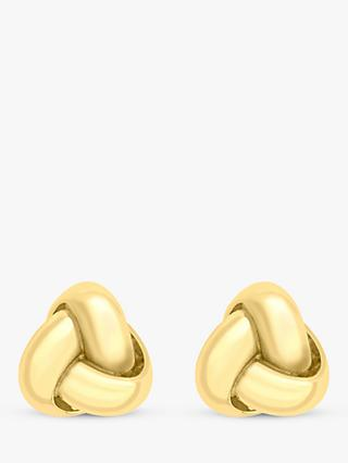 IBB 9ct Gold Knot Stud Earrings, Gold