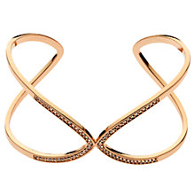 Buy Melissa Odabash Rose Gold Plated Swarovski Crystal Open Cuff, Rose Gold Online at johnlewis.com
