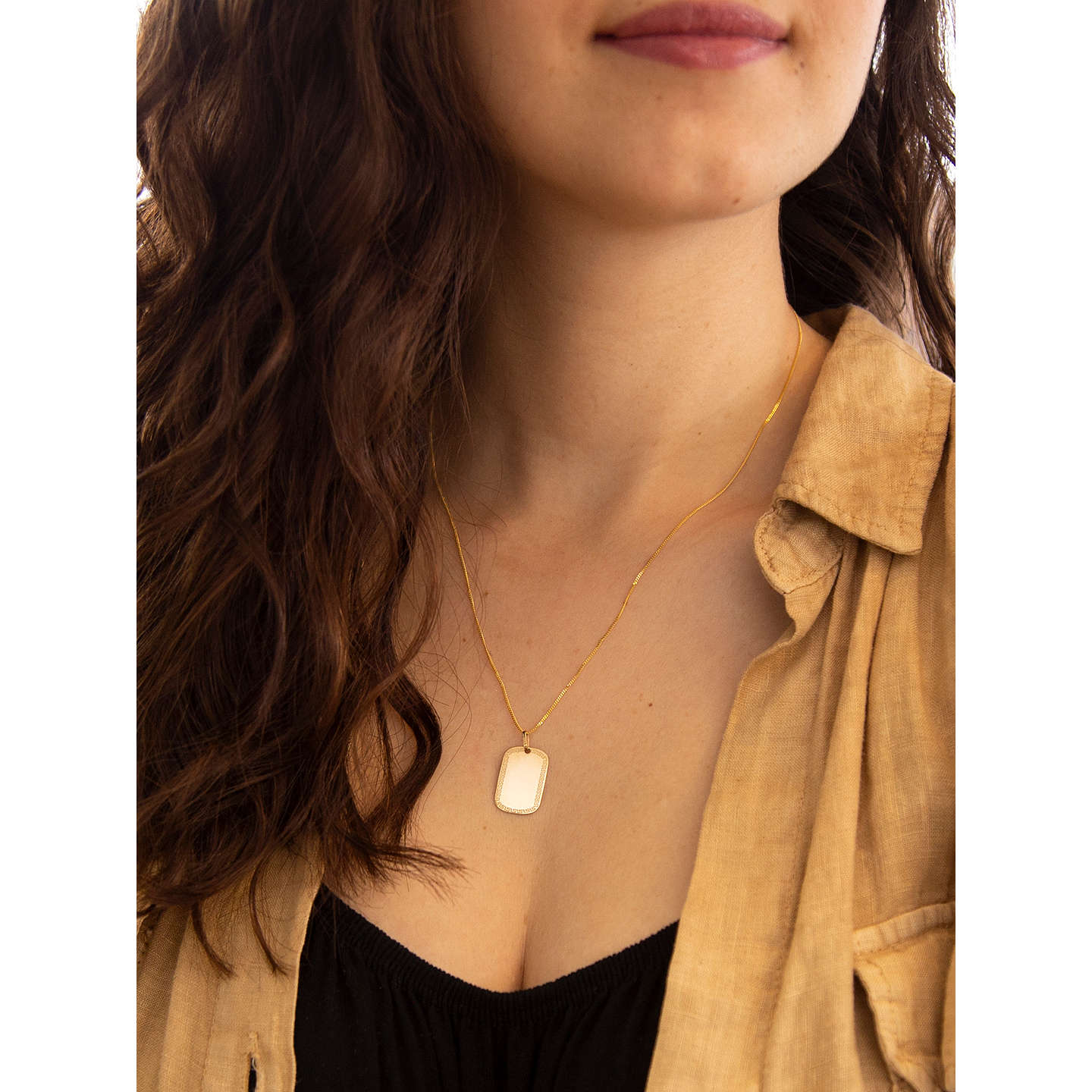 Ibb 9ct yellow gold grecian dog tag pendant gold at john lewis buyibb 9ct yellow gold grecian dog tag pendant gold online at johnlewis aloadofball Choice Image