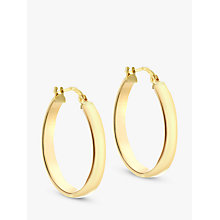 Buy IBB 9ct Yellow Gold Creole Hoop Earrings, Gold Online at johnlewis.com