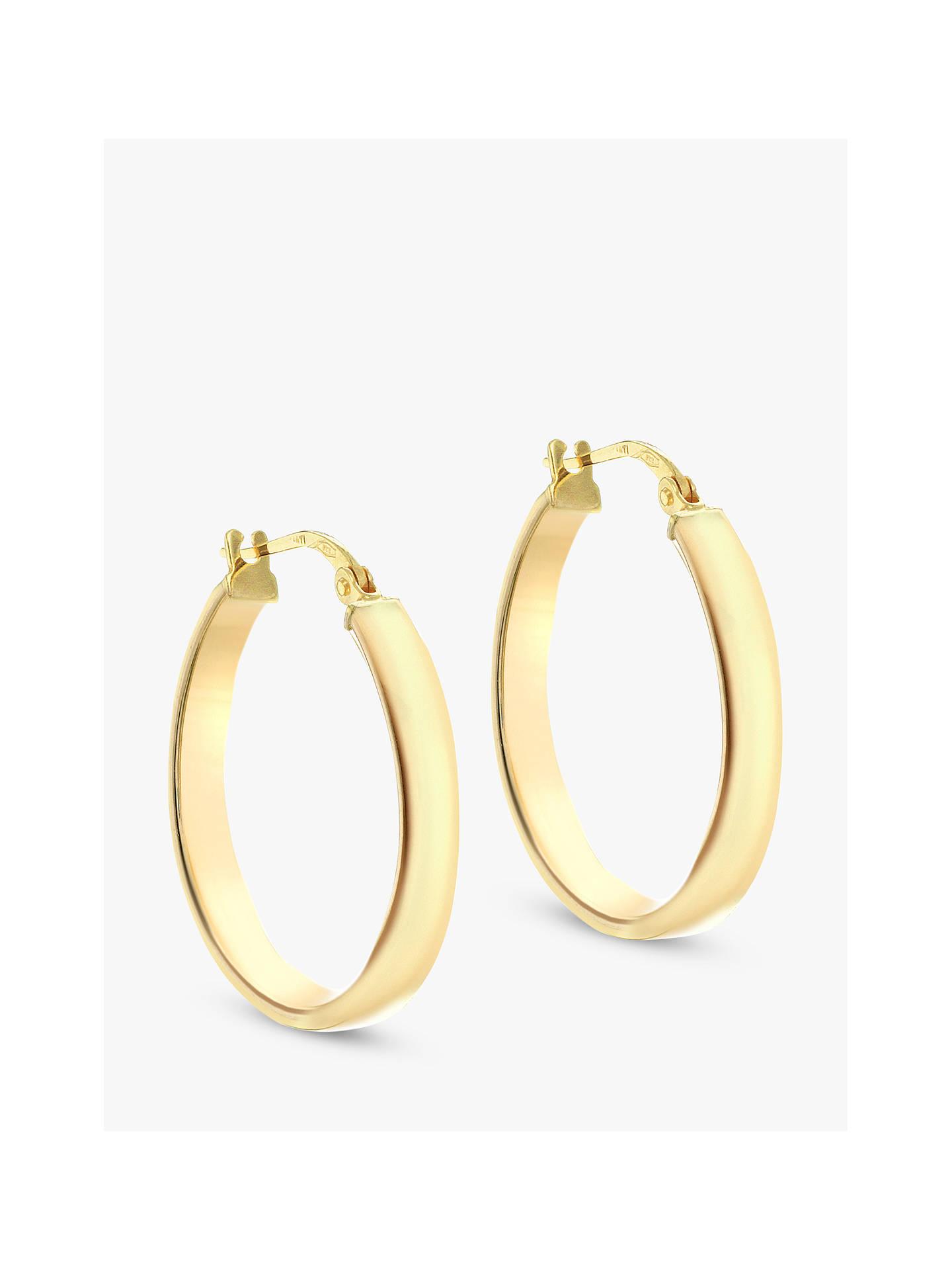 b3a6189d0e0b1 IBB 9ct Yellow Gold Creole Hoop Earrings, Gold