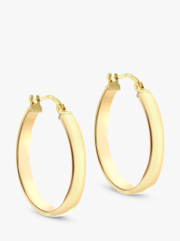 IBB IBB 9ct Yellow Gold Creole Hoop Earrings, Gold