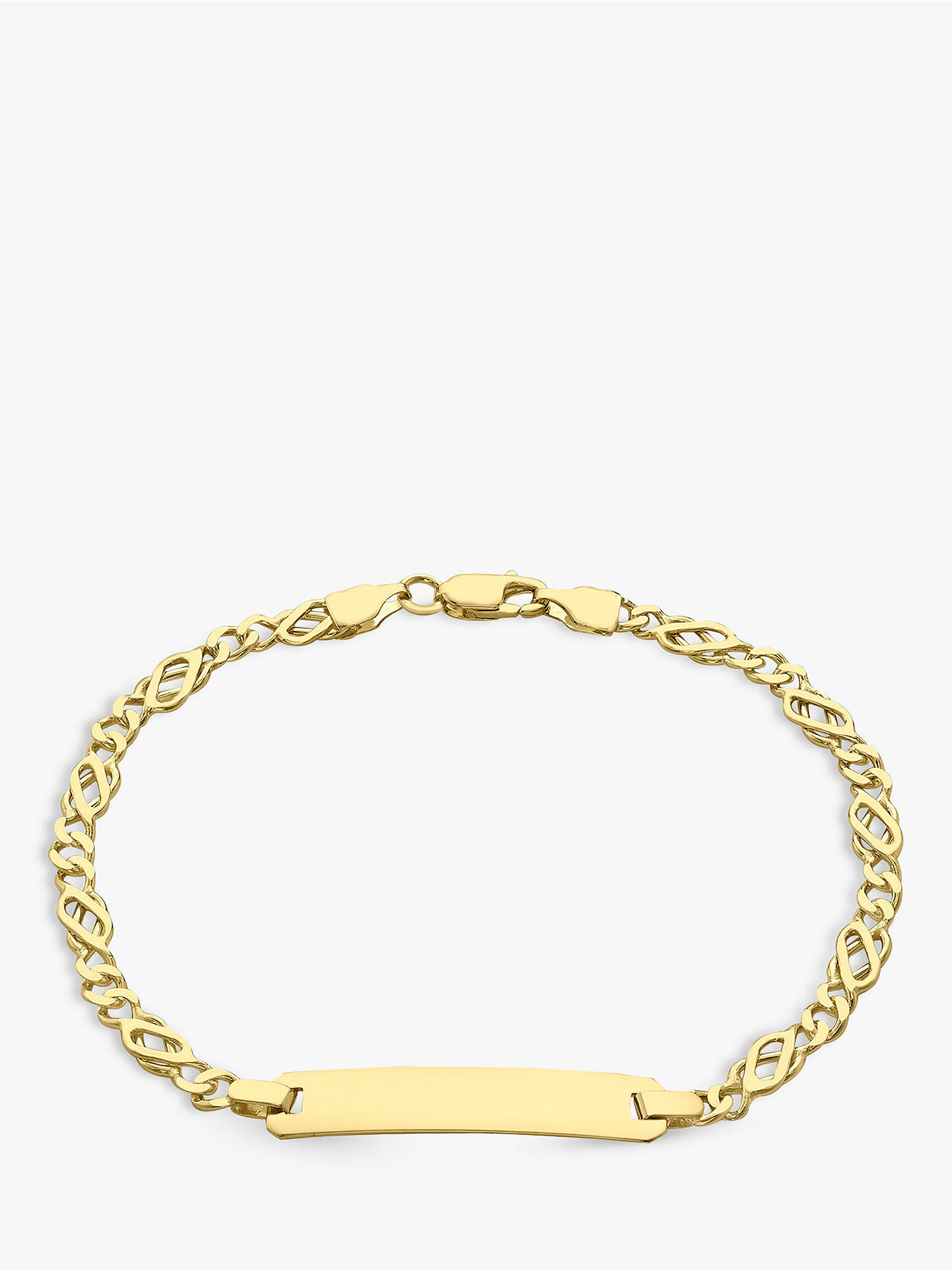 Ibb 9ct Gold Celtic Id Bracelet Online At Johnlewis