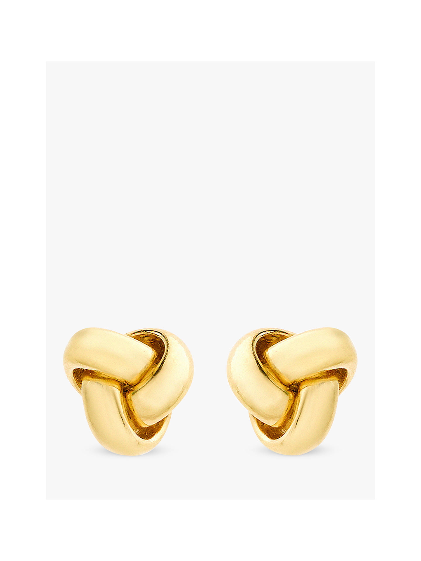 c66aa1a65 Buy IBB 9ct Gold 8mm Knot Stud Earrings, Gold Online at johnlewis.com ...