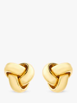 IBB 9ct Gold 8mm Knot Stud Earrings, Gold