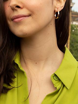 IBB 9ct Rose Gold Creole Earrings, Rose Gold