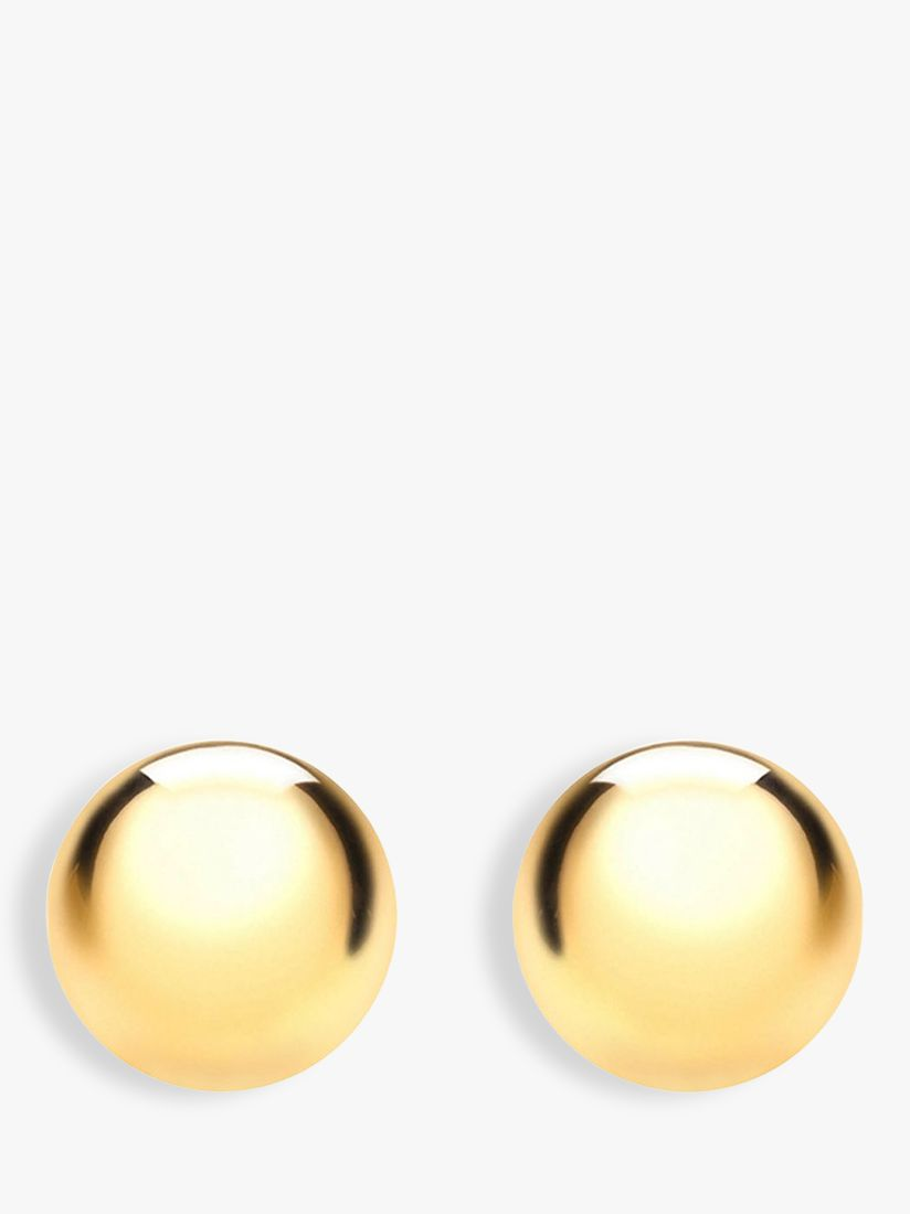 IBB IBB 18ct Gold Ball Stud Earrings