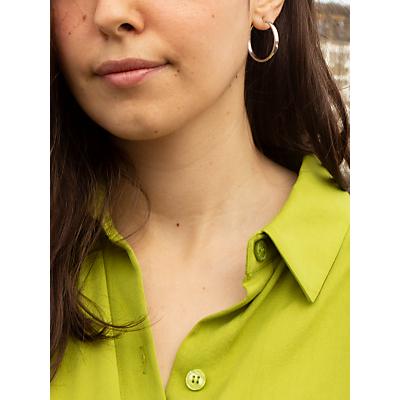 IBB 9ct White Gold Hoop Earrings, White Gold